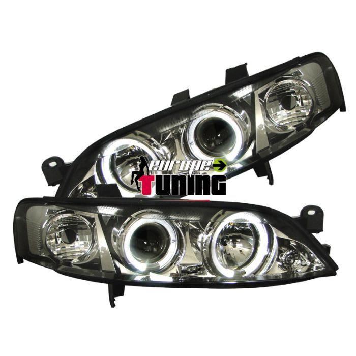 phares design, chrome, règl. électr., anneaux... 99-02 chrome pour: Opel Vectra B 99-02