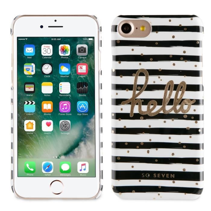SO SEVEN Bundle BORD DE MER Coque + STYLO +CARNET-Noir APPLE IPHONE 7