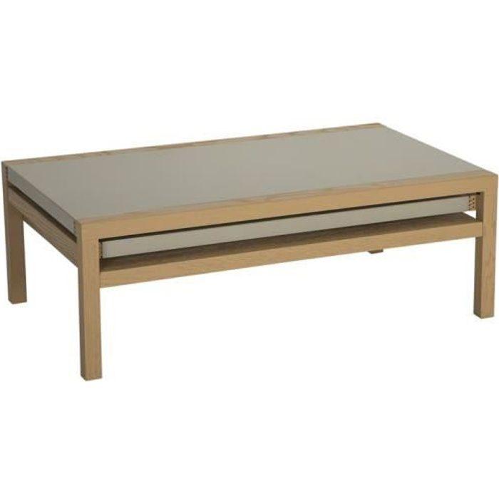 Table basse Koola Taupe/Chêne