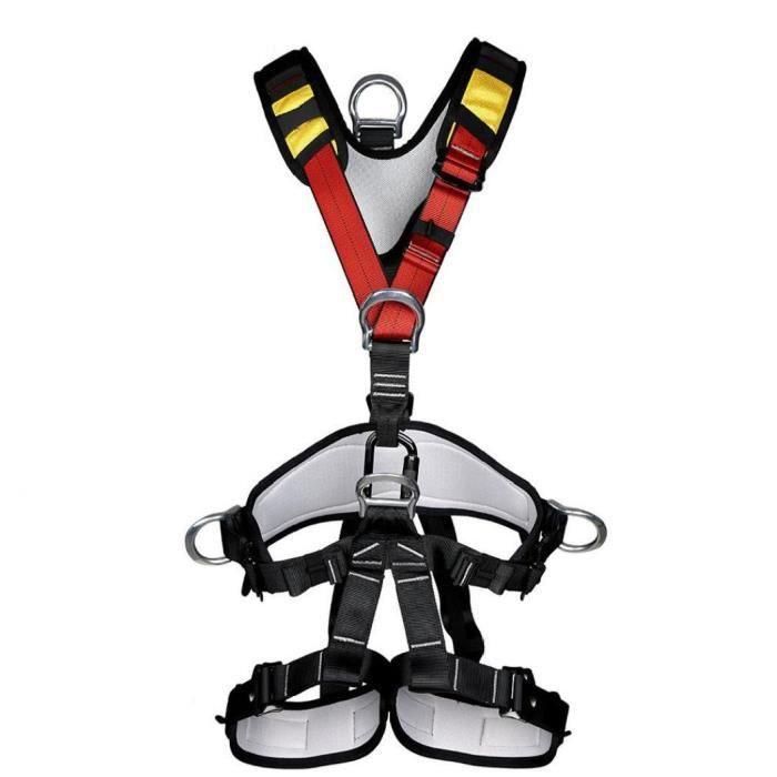 Harnais de sécurité FullProtective Ceinture d'escalade HarnessRappelling escalade alpinisme S