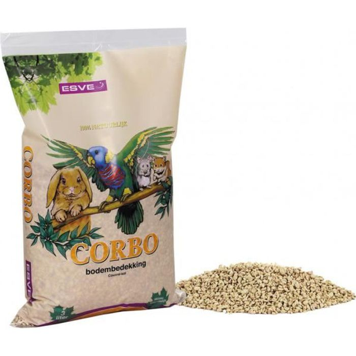Litière a bases de maïs CORBO 3 litres - 1 kg-Vadigran 10,000000
