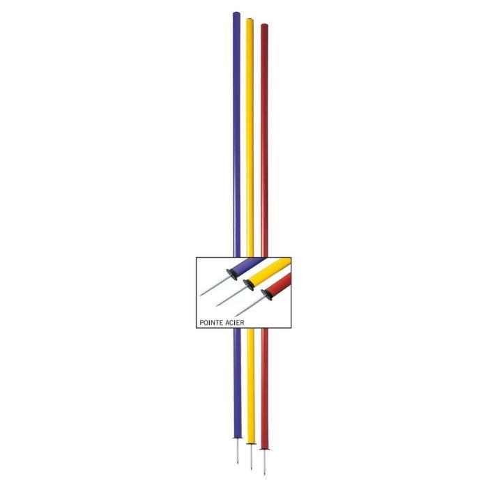 Lot de 4 Piquets de slalom - Jaune - Longueur : 1,60 m Diamètre : Ø 25 mm