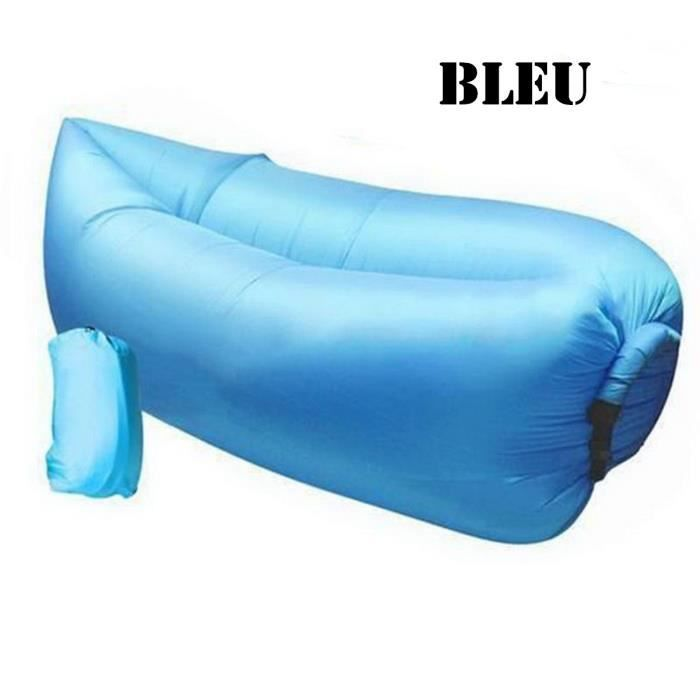 Milestone Camping Coussin de Voyage Gonflable Bleu