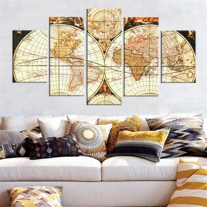 cadre map monde achat vente cadre map monde pas cher. Black Bedroom Furniture Sets. Home Design Ideas