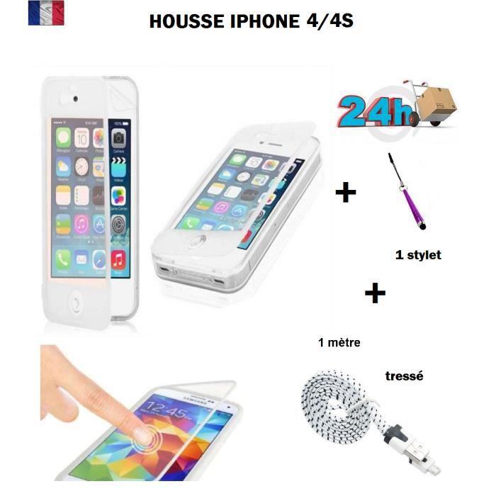 Coque iphone 4s clapet