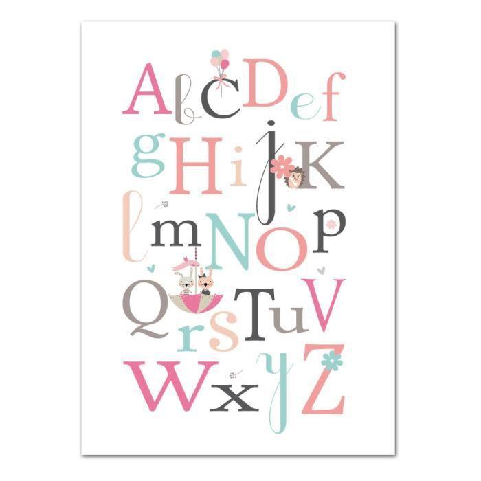 Poster Abecedaire Fille Animaux Dimensions 13 X 18 Cm Papier Brillant Achat Vente Affiche Poster Soldes Sur Cdiscount Des Le 20 Janvier Cdiscount