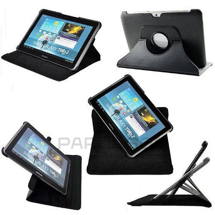 etui de protection rotatif noir galaxy tab 10 1 prix pas cher cdiscount. Black Bedroom Furniture Sets. Home Design Ideas