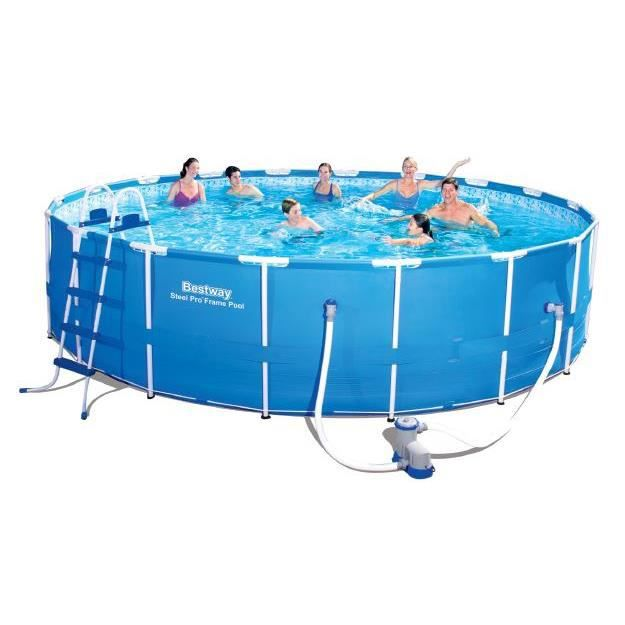 Piscine tubulaire ronde bestway m achat for Piscine ronde tubulaire