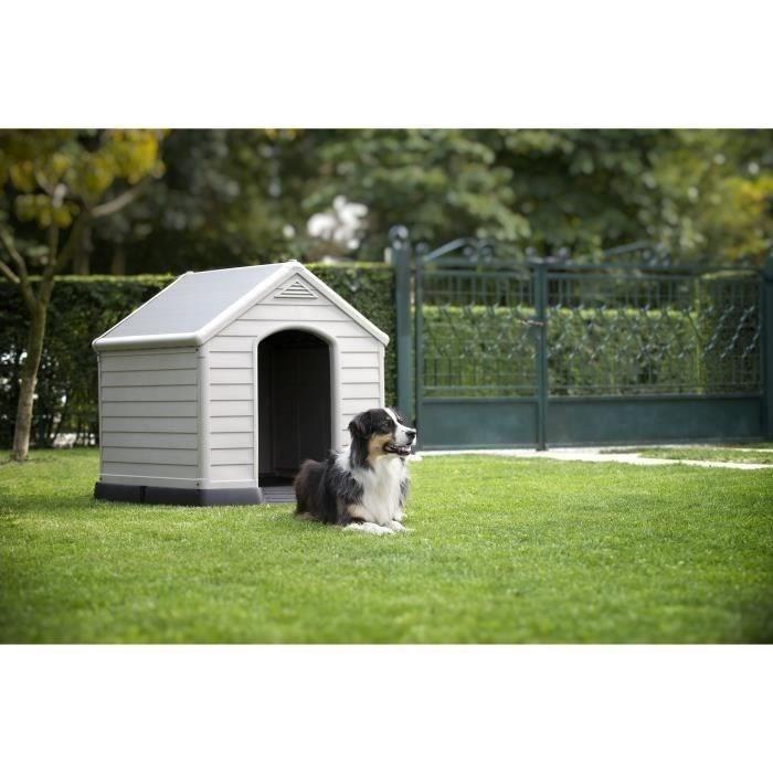 NICHE Niche XL pour chien en plastique beige et marron 9