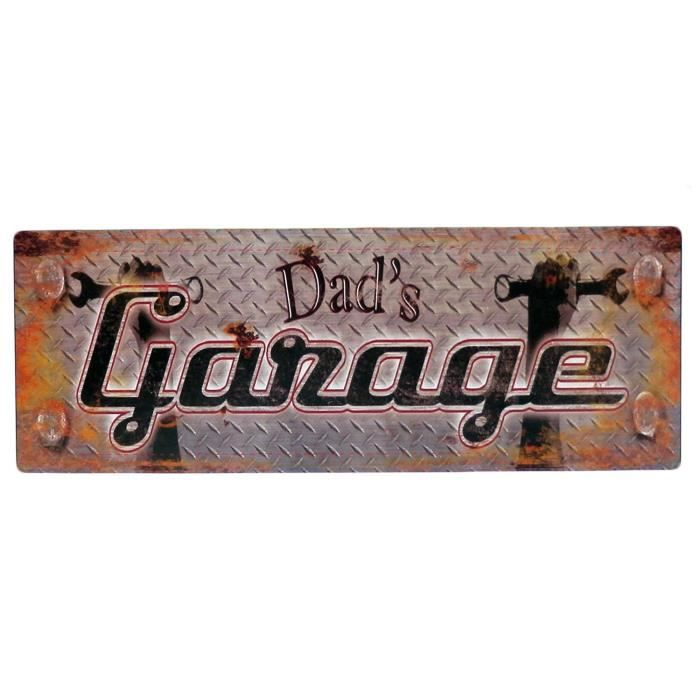 Plaque d corative en m tal dad 39 s garage d co de mur for Plaque metal deco pour mur