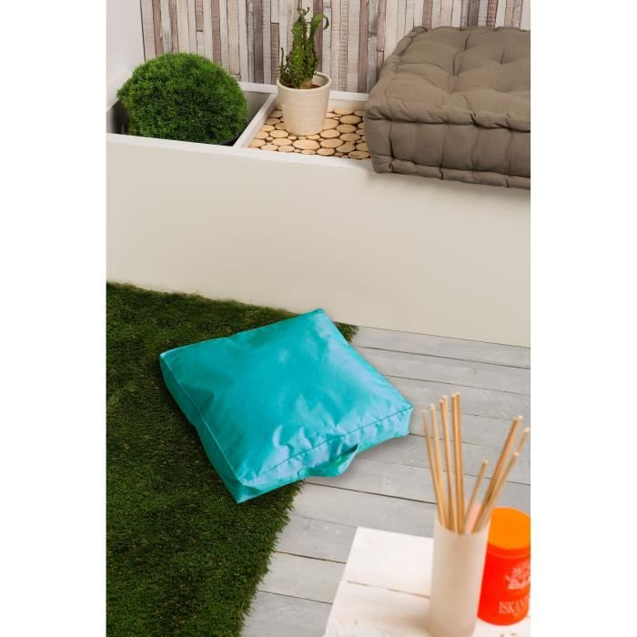 moorea coussin de sol imperm able turqu 40x40x8cm achat vente pouf poire cdiscount. Black Bedroom Furniture Sets. Home Design Ideas