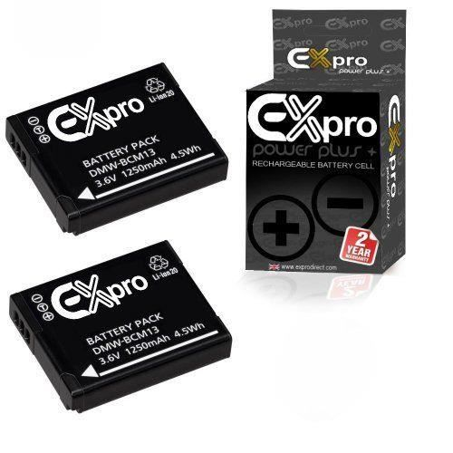 BATTERIE APPAREIL PHOTO Ex-Pro Power Plus Lot de 2 batteries Li-Ion pour a