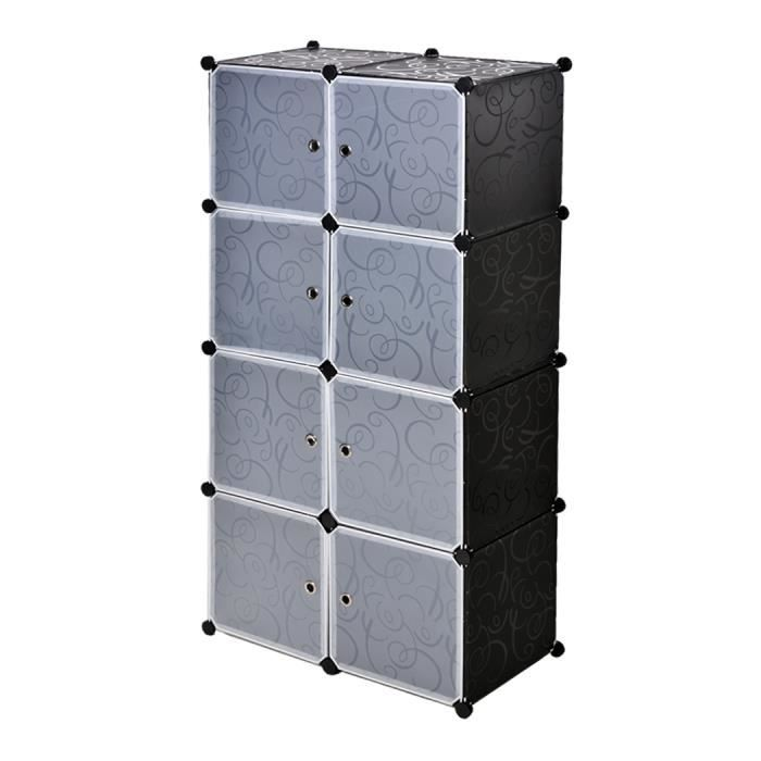 meuble armoire bricolage en plastique 8 stockage en cubes tag re armoire salle de bain garde. Black Bedroom Furniture Sets. Home Design Ideas