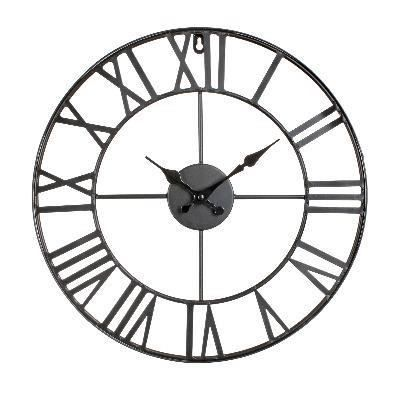 vintage horloge murale m tal d40cm achat vente horloge pendule soldes d s le 27 juin. Black Bedroom Furniture Sets. Home Design Ideas
