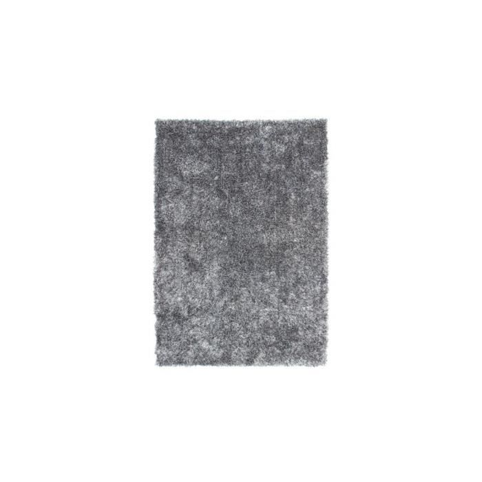 tapis doux en polyester gris et blanc tango par lalee 80x150cm gris achat vente tapis. Black Bedroom Furniture Sets. Home Design Ideas