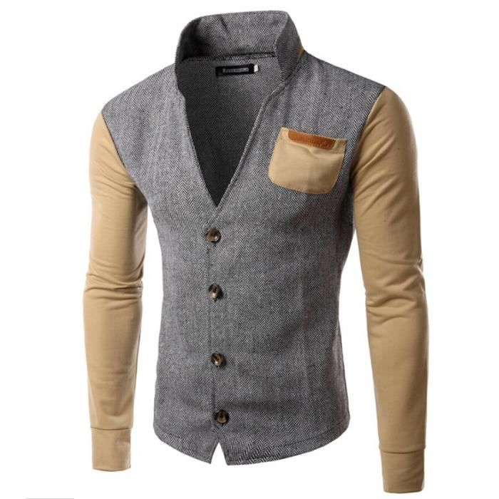 blazer homme d contract sweat shirt en couleurs jointives. Black Bedroom Furniture Sets. Home Design Ideas