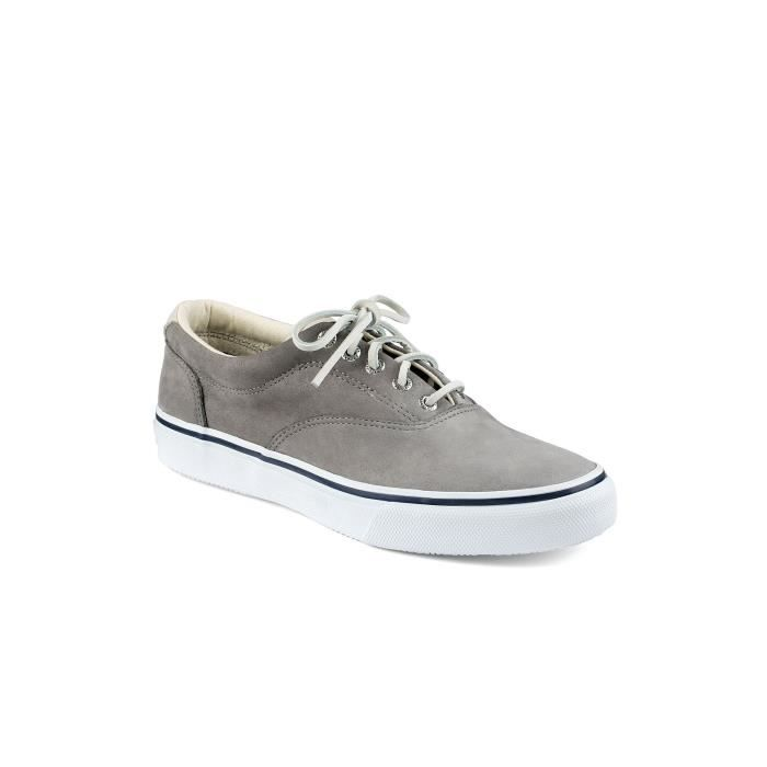f5c64e617816 SPERRY TOP SIDER Basket STRIPER CVO WASHABLE Gris - Achat / Vente ...