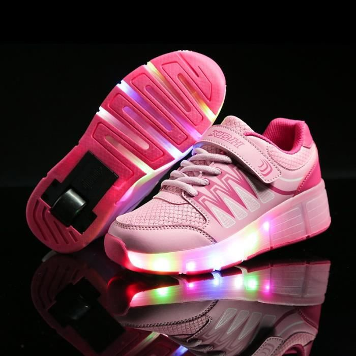 Enfants chaussures roulettes LED lighted USB ch... 2uUAqO0tR