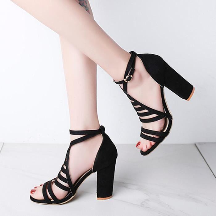 Les Femmes Sling Back Compensé Sandales Semelle Confortable Doux Luxe Micro Daim Bout Ouvert