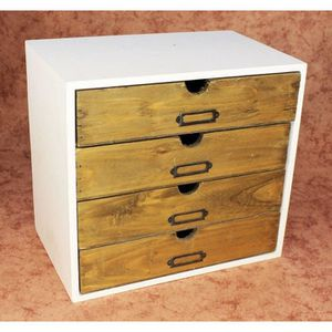 mini commode en bois achat vente mini commode en bois pas cher cdiscount. Black Bedroom Furniture Sets. Home Design Ideas