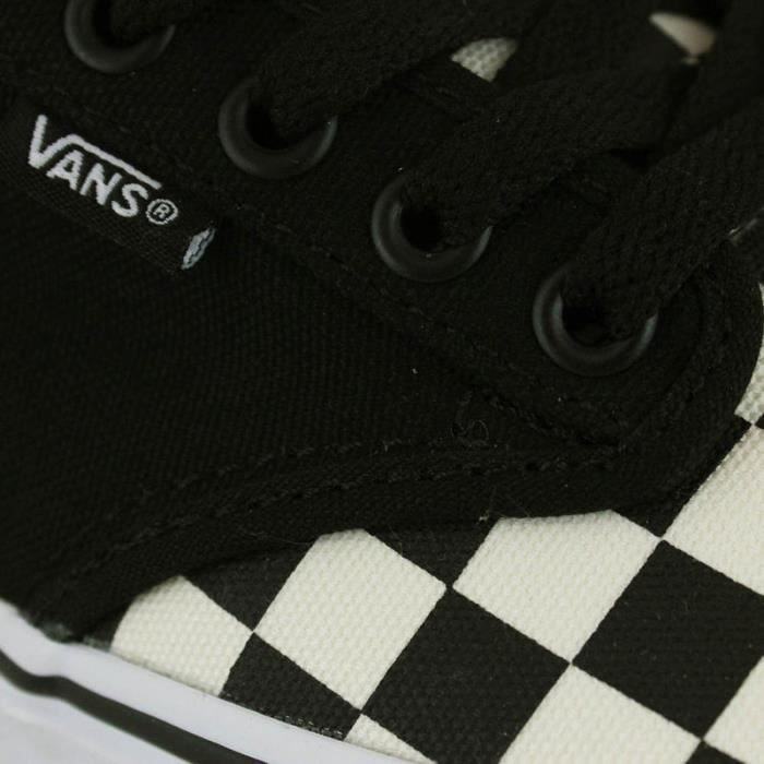 VANS ATWOOD CHECKERBOARD BLACK WHITE KIDS