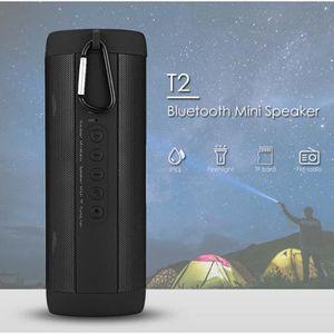 HAUT-PARLEUR - MICRO T2 Mini Haut-parleur Imperméable sans Fil Bluetoot