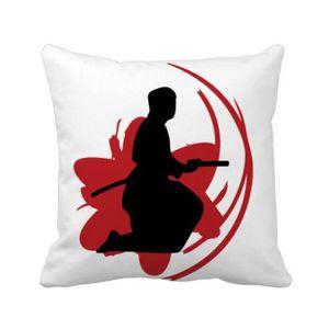 OREILLER bushido samouraï katana sakura tenir silhouette ja