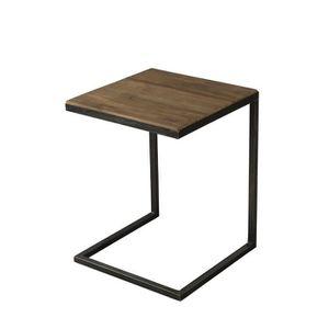 BOUT DE CANAPÉ Bout de canapé industriel en bois teck + pieds en