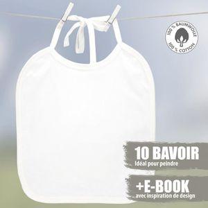 BAVOIR Booga Baby Bavoir bébé blanc pour la peinture 10 p