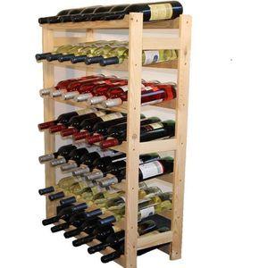 MEUBLE ÉTAGÈRE NetBoat Étagère à vin en Bois, Non traité, Bois, u