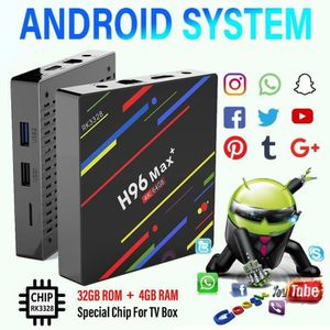 BOX MULTIMEDIA ss-33-T4W H96 Max Plus RK3328 4G - 64G Android 8.1