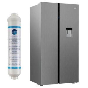 RÉFRIGÉRATEUR CLASSIQUE BEKO Réfrigérateur Frigo Américain US 2 portes Ino