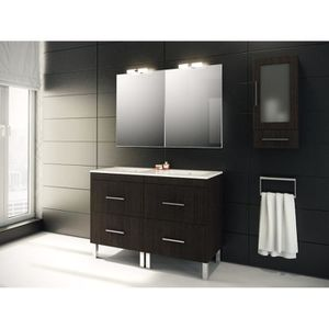 double vasque 120 cm achat vente double vasque 120 cm pas cher cdiscount. Black Bedroom Furniture Sets. Home Design Ideas