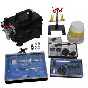 COMPRESSEUR Kit de compresseur d'aérographe avec 3 pistolets