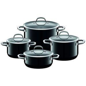 POÊLE - SAUTEUSE Silit Pot-Set 4 pièces. Passion Noir 2109297178