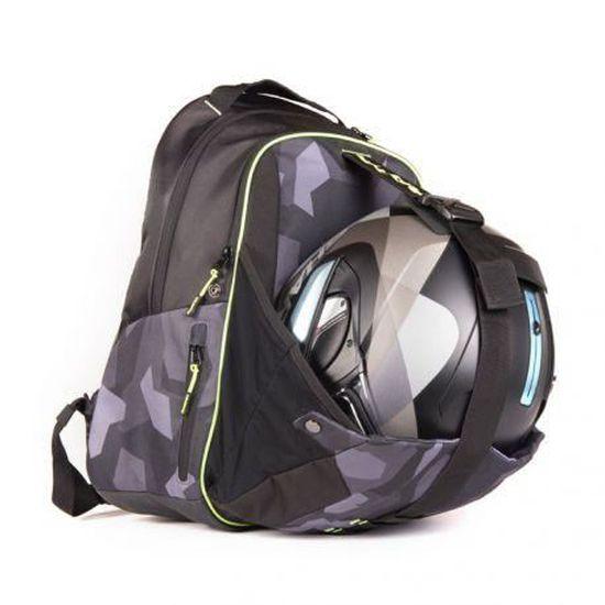 Housse pluie 35L noire avec réflecteur+élastique pour sacoche moto ou sac à dos