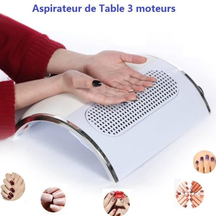 aspirateur collecteur de poussi re pour ongles 3 moteurs. Black Bedroom Furniture Sets. Home Design Ideas