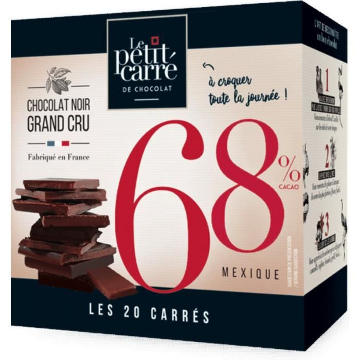 Le Petit Carre De Chocolat Chocolat noir carrés