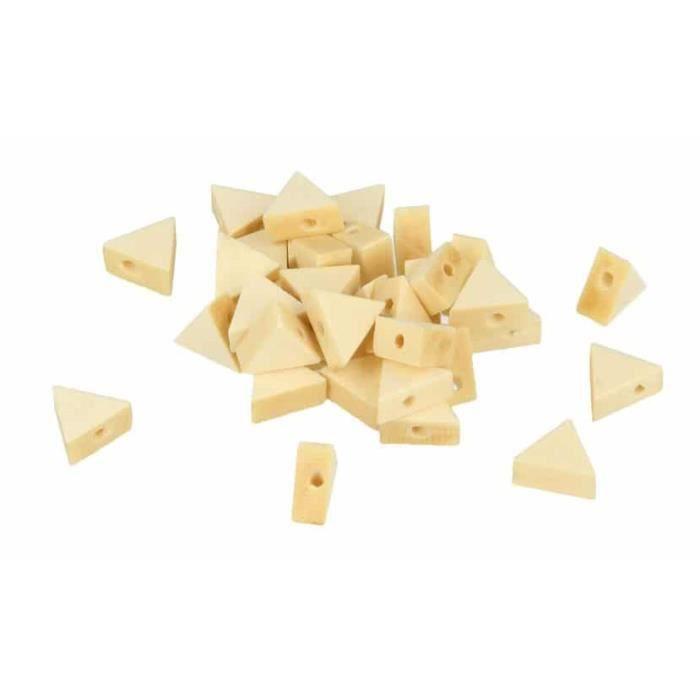 Perle bois triangle 11x9,7x4,9mm 35 pièces - Artémio Marron