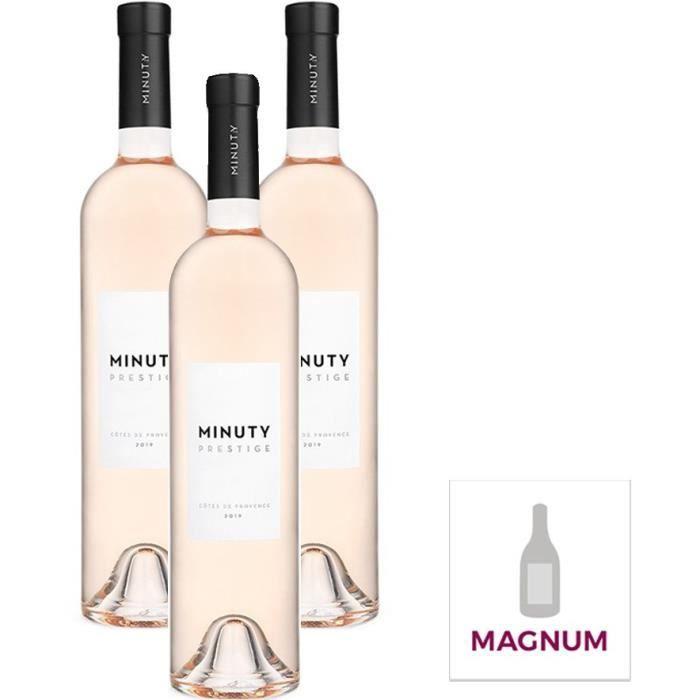 Prestige Minuty Côtes de Provence - Vin rosé - Magnum x 3