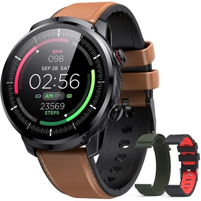 Hommie Montre Connectée Homme Smartwatch Sport Etanche IP68 Bracelet Connecté Tensiomètre Cardiofréquencemètre Podomètre Fitness Tra