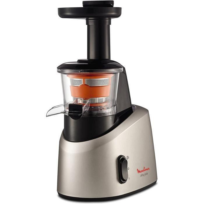 Moulinex ZU255B10 Extracteur de Jus Infiny Juice Pressoir Fruits et Légumes 82 tours/minute Centrifugeuse Pression à Froid Silencieu