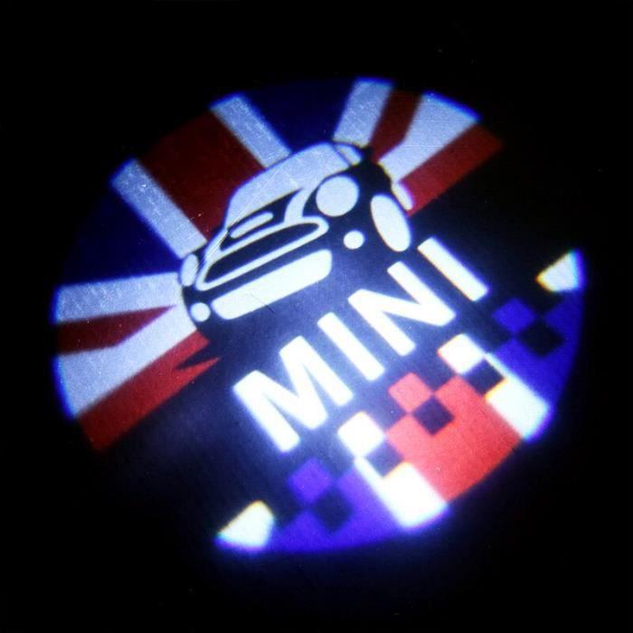 Porte de voiture Led lampe de Projection Laser bienvenue lumière pour BMW MINI COOPER JCW F54 F55 F56 F60 R56 R60 CLUBMA LX16052