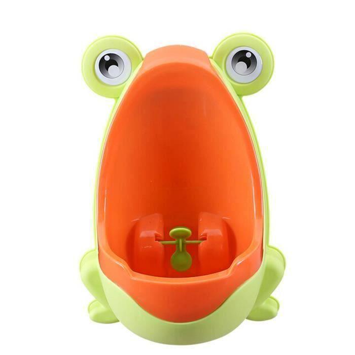 Pissoir Urinal Enfant Toilettes Mur Commode Animal Forme Vertical Potty Orange La32039