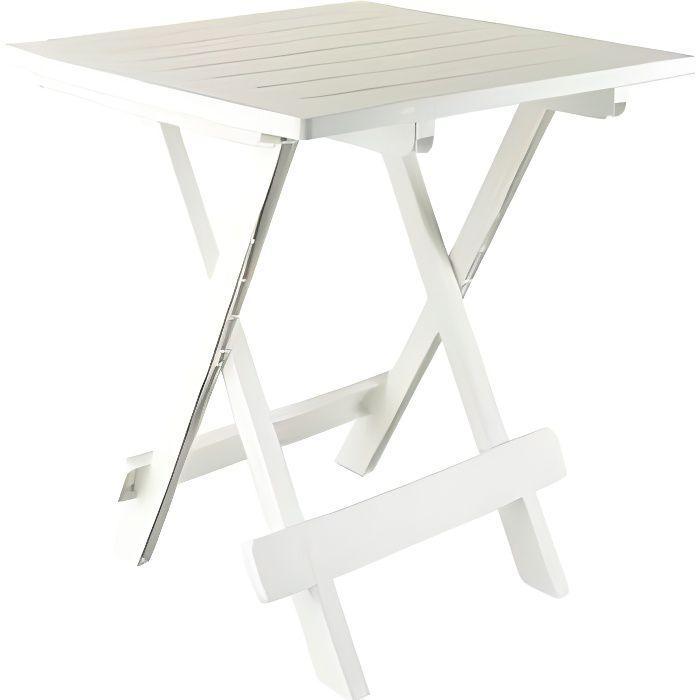 TABLE CAMPING JARDIN PORTABLE PLIANTE DIMENSIONS 50 X 45 X 43 CM POIDS MAX SUPPORTABLE 12 KGS EN PLASTIQUE ( LAVABLE
