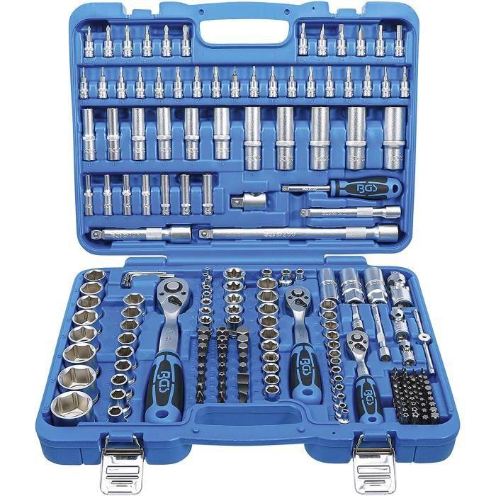 BGS 2243 - Coffret de douilles six pans - 6,3 mm (1-4-) - 10 mm (3-8-) - 12,5 mm (1-2-) - 192 pièces 43