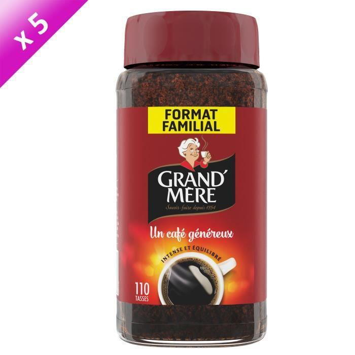 [LOT DE 5] GRAND'MERE Café soluble Jar - 200 g