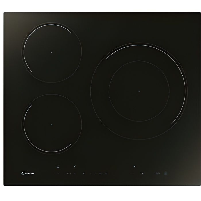 Plaque à Induction Candy CID633DC 60 cm 7100W (3 zones de cuisson)