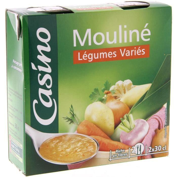 CASINO Mouliné Légumes variés - 2x30 cl