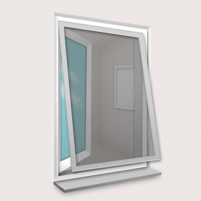 Cadre Moustiquaire pour Fenêtre 100x120 cm Gris